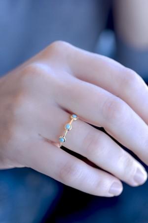 COMFORT ZONE - AIDA - Dainty Turquoise Ring (1)