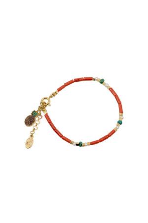 PLAYGROUND - ALOHA - Coral Beaded Bracelet