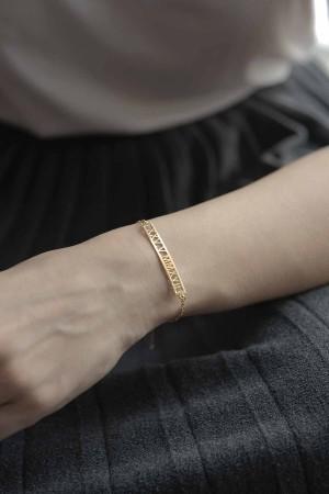 PETITE JEWELRY - ANCIENT - Personalized Roman Numbers Bracelet (1)