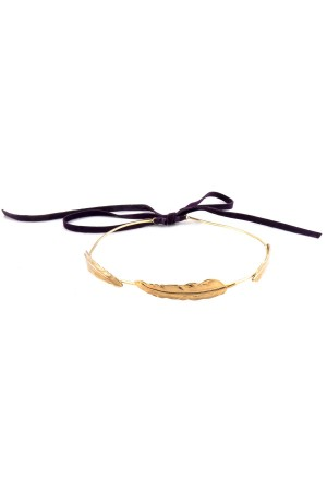 SHOW TIME - ANGEL'S FEATHER - Gold Headband