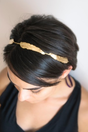 SHOW TIME - ANGEL'S FEATHER - Gold Headband (1)