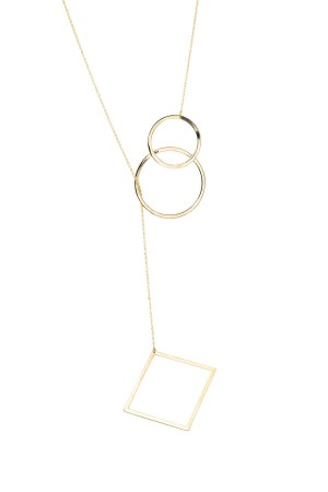 COMFORT ZONE - ANGLES - Lariat Necklace