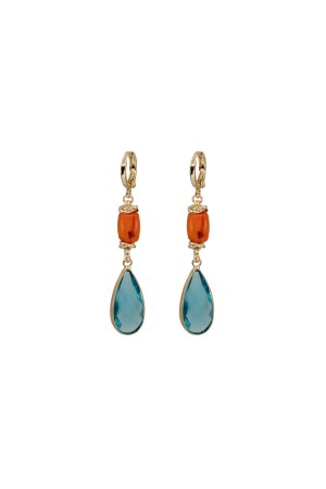 SHOW TIME - AQUA - Drop Earrings