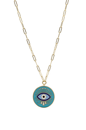 SHOW TIME - AQUA - Medallion Necklace