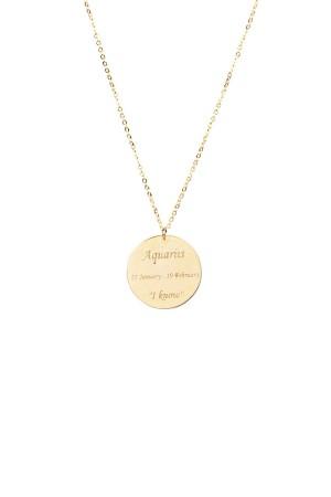 PETITE JEWELRY - AQUARIUS - Star Sign Necklace (1)