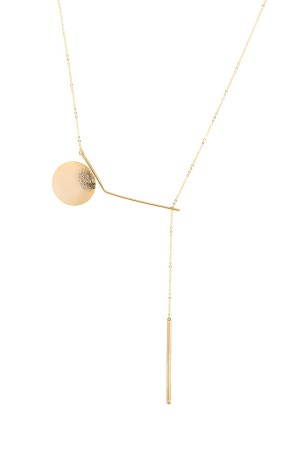 COMFORT ZONE - ARCHY - Geometric Lariat Necklace