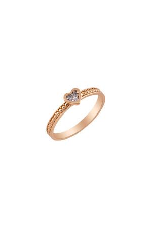 PETITE LUXE - ARIA - Diamond Heart Ring