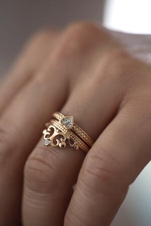 PETITE LUXE - ARIA - Diamond Heart Ring (1)