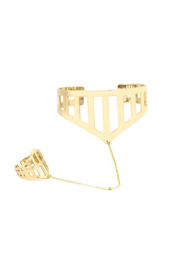 ARMOR CUFF - Ring Bracelet