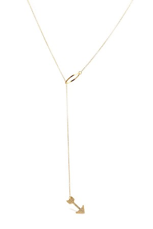 COMFORT ZONE - ARROW - Lariat Necklace