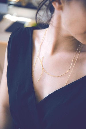 BAZAAR - ASYMMETRICAL - Handmade Necklace (1)