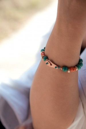 COMFORT ZONE - AZURE - Natural Stone Bracelet (1)