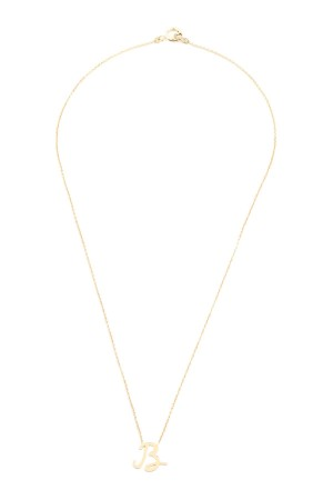 PETITE JEWELRY - B - Upper Case Initial Necklace
