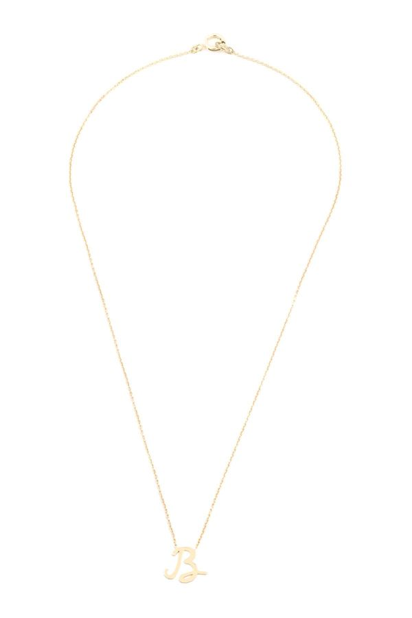 b upper case initial necklace