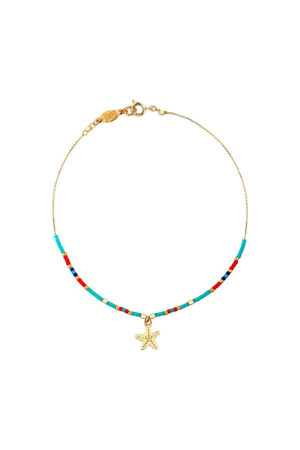 BAIA - Starfish Charm Beaded Anklet