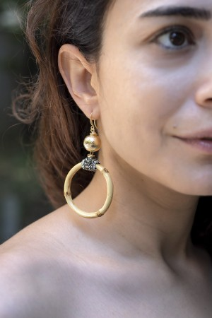 BAMBOO - Hoop Earrings - Thumbnail