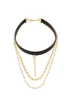 COMFORT ZONE - BAR - Layered Choker Necklace