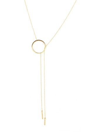 COMFORT ZONE - BARS IN CIRCLE - Dainty Lariat Necklace