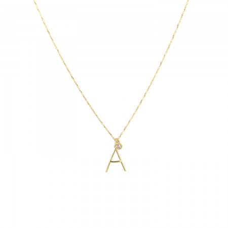 PETITE JEWELRY - BASIC - Initial Letter Necklace