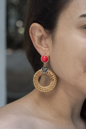 SHOW TIME - BASKET - Coral Earrings (1)