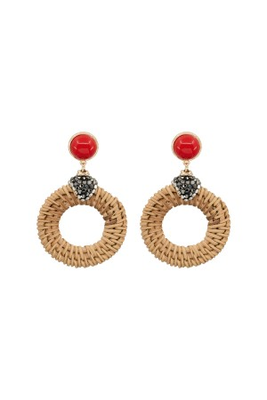 SHOW TIME - BASKET - Coral Earrings
