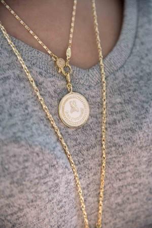 BEE YOURSELF - Beyaz Mineli Madalyon - Thumbnail