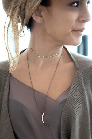 COMFORT ZONE - BI COLOR - Ivory Pendant Necklace (1)