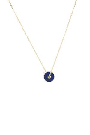 BIG BANG - Navy Blue - Lacivert Mineli Kolye - Thumbnail