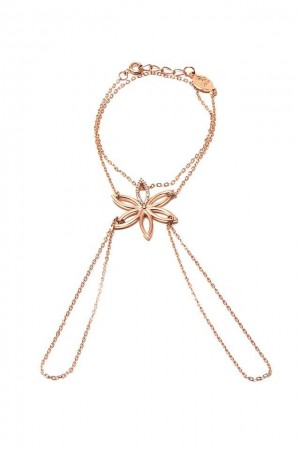 SHOW TIME - BIG FLOWER - Rose Gold Hand Chain