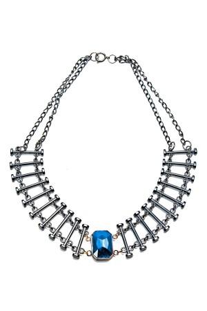 SHOW TIME - BLACK BARS - Vertical Bar Necklace