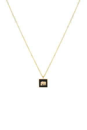 COMFORT ZONE - BLACK ELEPHANT - Luck Necklace