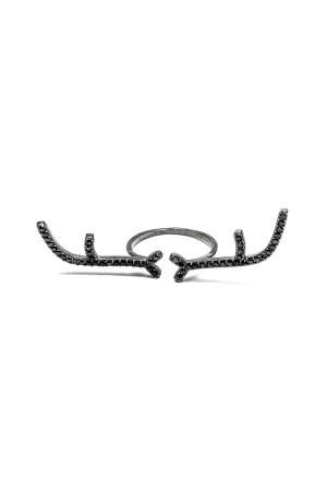BAZAAR - BLACK HORN - Taşlı Yüzük