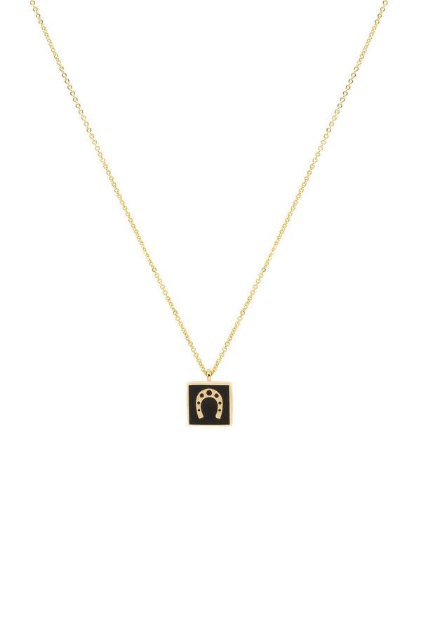 BLACK HORSESHOE - Pendant Necklace