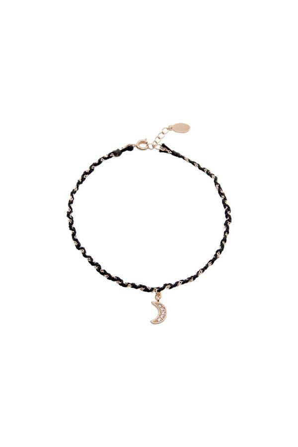 BLACK MOON - Braided Anklet