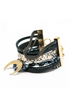 SHOW TIME - BLACK MOON - Layered Statement Bracelet