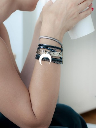 SHOW TIME - BLACK MOON - Layered Statement Bracelet (1)