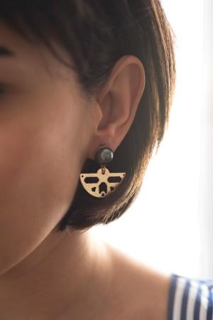 COMFORT ZONE - BLACK PEARL - Dangle Earrings
