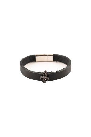 MANLY - BLACK ROYAL - Leather Bracelet