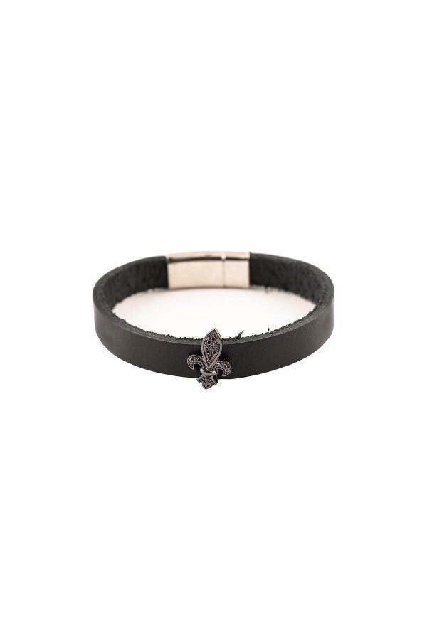 BLACK ROYAL - Leather Bracelet