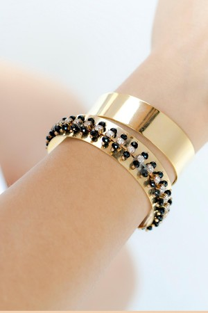 SHOW TIME - BLACK SHINE - Set of Two Bracelets (1)