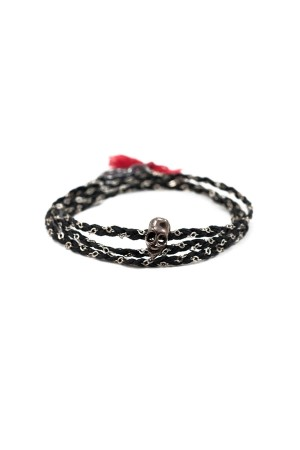 MANLY - BLACK SKULL - Braided Bracelet