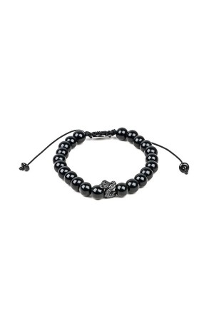 MANLY - BLACK SNAKE - Beaded Bracelet