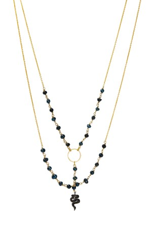 PLAYGROUND - BLACK SNAKE - Rosary Chain Necklace