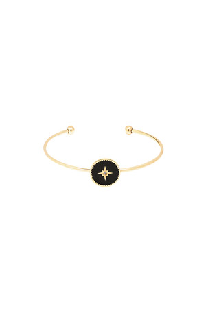 COMFORT ZONE - BLACK STAR - Bangle Bracelet