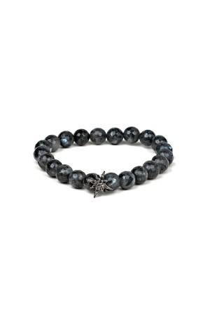 MANLY - BLACK STAR - Beaded Bracelet
