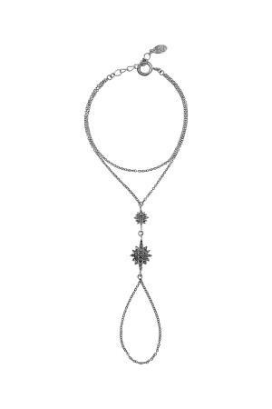 SHOW TIME - BLACK STAR - Black Rhodium Hand Chain