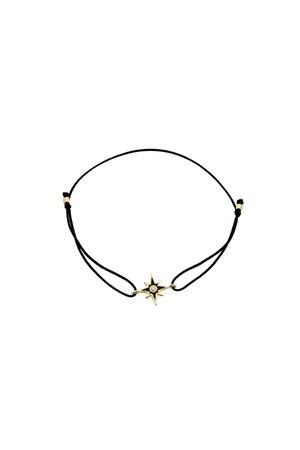COMFORT ZONE - BLACK STAR - Pull Cord Bracelet
