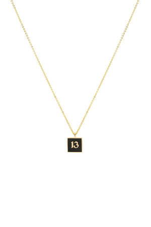 BLACK THIRTEEN - Pendant Necklace - Thumbnail