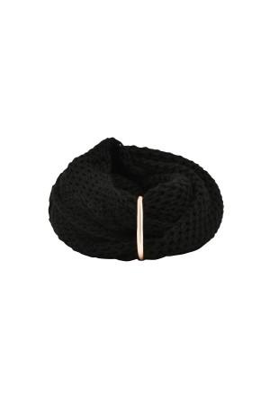 HAPPY SEASONS - BLACK - Wool Scarf