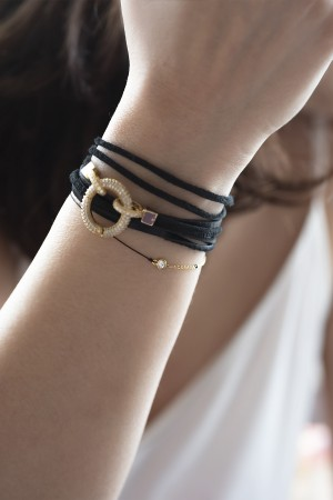 PLAYGROUND - BLACK DOT - Kabbalah Bracelet (1)